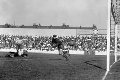 Soccer - League Division One - Tottenham Hotspur v Wolverhampton Wanderers - White Hart Lane. Tottenham goalkeeper Joe Nicholls watches on as a Wolves forward shoots wide at White Hart Lane, 1933.