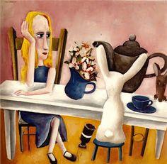 Charles Blackman's Alice in Wonderland series of paintings,