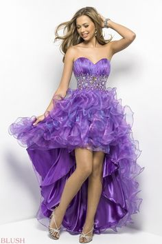 Purple Blush Short/Long Gown with Crystals and Sequins