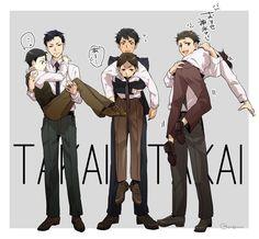 Tazaki and Jitsui, Sakuma and Hatano, Kaminaga and Miyoshi, from Joker Game