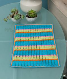Colorful Table Doily