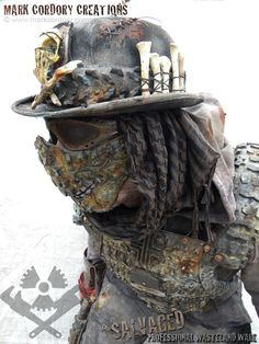 Post Apocalyptic wasteland costume. SALVAGED Ware by Mark Cordory Creations. Enquiries always welcome. www.markcordory.com