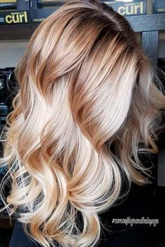 Hair waves hairstyles look wonderful and can work for any hair type. Check out our best ideas how to make your hair wavy and natural at the same time. Weave Hairstyles, Cool Hairstyles, Easy Hairstyle, Butter Blonde, Perfect Blonde Hair, Red To Blonde Hair, Updo, Curly Hair Styles, Natural Hair Styles