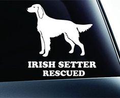 Irish Setter Rescued Dog Symbol Decal Paw Print Dog Puppy Pet Family Breed Love Car Truck Sticker Window (White) ExpressDecor http://www.amazon.com/dp/B00TIY8DUS/ref=cm_sw_r_pi_dp_7YG3ub19AS5K2
