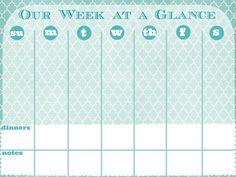 week at a glance calender