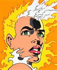 Fire Woman Acrílico sobre tela  Obra de Nuno Raminhos em 2013