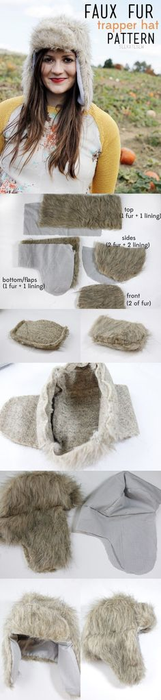 Faux Fur Hunter Hat | 17 DIY Accessories To Keep You Cozy This Winter