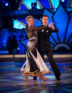 SCD week 8, 2017. Ruth Langsford & Anton du Beke.  Foxtrot. Voted off.   BBC/Guy Levy