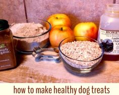 How to make healthy dog treats!  No worries about crazy ingredients for our four legged friends!  #dogtreats #dogbones #healthypet