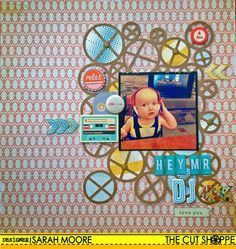 The Cut Shoppe: Hey Mr DJ!! - Sarah Moore, using The X File background cut file.