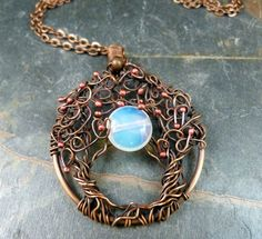 Moonlight Serenade  Trees of Life Wire Wrapped by SkyAndBeyond, $37.00