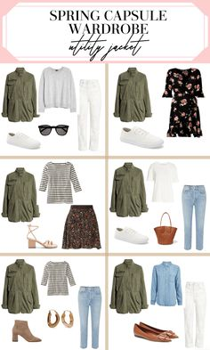 Here's a beautiful and practical guide for the pieces you need to create a minimalist spring capsule wardrobe. Classic pieces for spring that you can wear again and again as well as ideas on how to mix and match those key spring pieces! Moda Disney, Minimal Wardrobe, Cute Spring Outfits, Mein Style, Fashion Capsule, Inspiration Mode, Look Chic, Capsule Wardrobe, Outfit Ideas