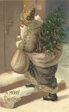 Victorian Christmas, Vintage Christmas Cards, Vintage Holiday, Xmas Cards, Homemade Christmas Decorations, Christmas Crafts, Father Christmas, Christmas Ideas, Merry Christmas