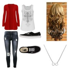 """""""Untitled #5"""" by mickeyreece on Polyvore featuring 7 For All Mankind, WearAll, maurices, Vans and La Preciosa"""
