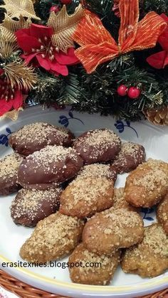 Greek Desserts, Yams, Holidays And Events, Christmas Cookies, Muffin, Sweets, Chocolate, Cooking, Breakfast