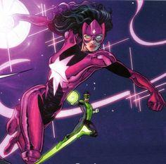 Carol Ferris' New Star Sapphire Uniform in Green Lantern: New Guardians # 0 - Art by  Aaron Kuder, Andrei Bressan, Aaron Kuder, Greg Adams, & Nei Ruffino