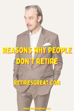 Is retirement a slow death, the beginning of the end? Why you should never retire began from a conversation with a close friend. He argued, quite passionately, he was never retiring. He dreaded the day he wouldn't be able to do what he loved. Needless to say, his sentiments caught me completely off guard! I've always thought of retirement as a reward after a lifetime of hard work. The more we talked the clearer it became there are many valid reasons to continue working. #whyyoushouldneverretire Why People, Retirement Planning, Inevitable, Dreads, Work Hard, Thoughts, How To Plan, Lifestyle, Conversation
