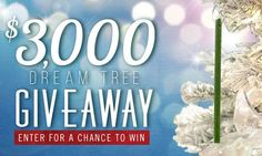 Win a $3,000.00 7' Balsam Hill Balsam Fir Pre-lit Artificial Christmas Tree package; $2,063.18 to be used for decorating the tree; a curated list of potential decorations you may want to purchase with the money provided; and a ScentSicles Gift Pack....