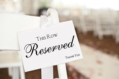 Reserved Sign reserved card wedding ceremony by FawnAndFloral