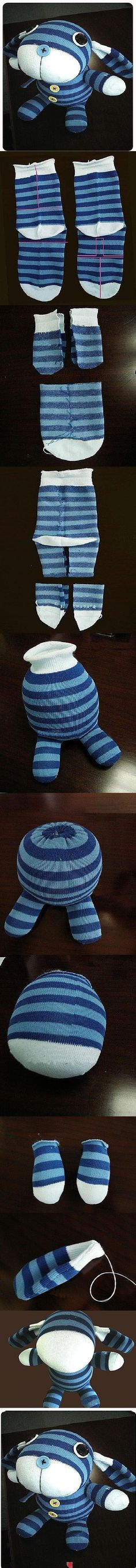 (Good ideas for sock puppets) DIY Fantasy Sock Doll DIY Fantasy Sock Doll Sewing Toys, Sewing Crafts, Sewing Projects, Diy Projects, Sock Crafts, Diy Crafts, Doll Patterns, Sewing Patterns, Diy For Kids
