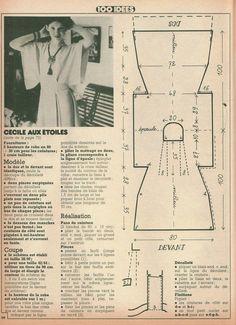 1970's kimono shirt pattern
