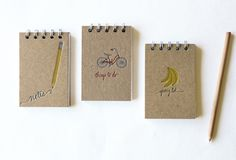 this makes my OCD list writing shoot into hyper drive! featured on Design Sponge, note books from Paper Lovely