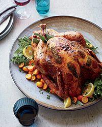 Roast Turkey with Pepperoni Recipe on Food & Wine
