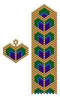 Proud Heart Bracelet and Earring Pattern Set at Sova-Enterprises.com Many FREE…