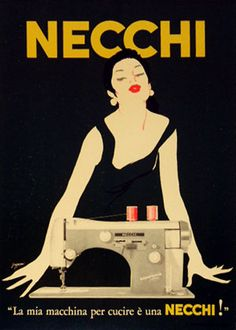 Franco Grignani, Necchi Sewing Machines, 1950