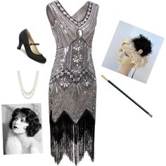 Dance and have fun   flapper headband from Blueskyhorizons ~ 1920's Flapper ~ by hanakdudley on Polyvore featuring Funtasma and Anne Klein