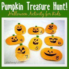 Halloween treasure hunt for kids! Fun Halloween activity!