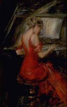 The Woman in Red - Giovanni Boldini