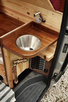 small van conversion sink.. too small i think More