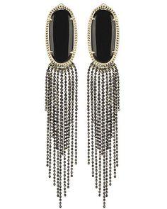Amy Statement Earrings in Black - Kendra Scott Jewelry