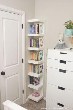 Ideas for a Shared Girl's Bedroom (…finally complete!) Ideas for a shared girl's room (. finally f Room Ideas Bedroom, Diy Bedroom, Bedroom Ideas For Small Rooms For Girls, Bedroom Wall, Girls Bedroom Furniture, Bedroom Shelves, Decor Room, Girls Bedroom Storage, Toddler Bedroom Ideas