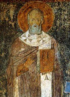 Григорий Богослов Фреска в центральном нефе.