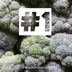 """I mean just look at this broccoli; how could it not be healing? Imagine wild bushes sweeping through your colon. We're talking mega-fiber machine. That's how I see it; that's what the research shows. Rich in vitamins & minerals; anti-inflammatory. To best absorb its medicinal properties, simply lightly steam. Do not and I repeat """"do not"""" overcook it. Peaceful healing, friends."""