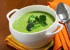 Broccoli soup.  Made creamy with avocado...not heavy cream!