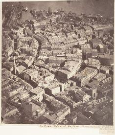 Boston, en 1860 par James Wallace Black : première photographie aérienne. Metropolitan Museum of Art, New York.