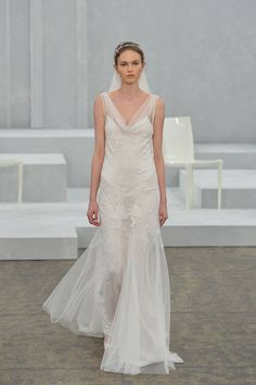 Monique Lhuillier | Grecian-Inspired Wedding Gowns - Grecian Gowns Bridal Fashion Week 2015 - Elle