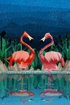 Flamingo Night