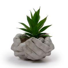Cement Flower Pots, Cement Planters, Face Planters, Air Plant Display, Pot Plante, House Plants Decor, Concrete Crafts, Diy Arts And Crafts, Decorative Accessories