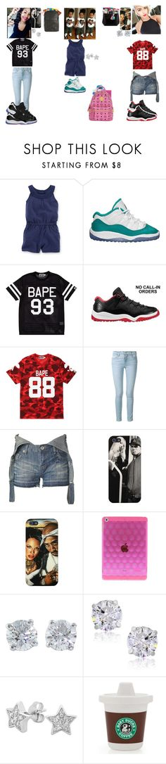 """""""Nyla Payton Tiana   OOTD"""" by money-baby-27 ❤ liked on Polyvore featuring Sesame Street, Baby Bling, Retrò, A BATHING APE, Frame Denim, New Look, Tiffany & Co., Georgini and MCM"""