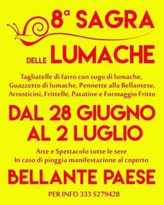 SAGRA DELLE LUMACHE - Bellante | Eventi Teramo⠀ #eventiteramo #eventabruzzo #besties #bestoftheday #chill #chilling #cool #crazy #friend…