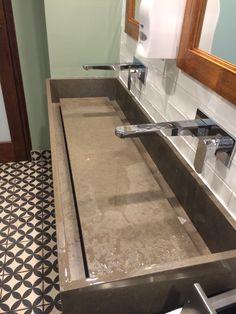60 Quot Ada Floating Concrete Ramp Sink In 2019 Bathrooms