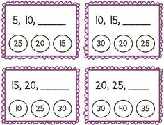 Skip Counting by Clothespin Task Cards Math Classroom, Maths, Skip Counting By 5, Numeracy Activities, Fast Finishers, Clothespins, Task Cards, Math Centers, Teacher Newsletter