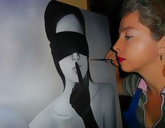 Pintando uno de mis cuadros Susana Soto Poblette