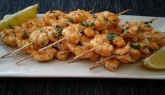 astuces pour femme: Brochettes de crevettes