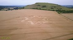 Crop Circle at Cley Hill, Nr Warminster, Wiltshire. Reported 18th July 2017