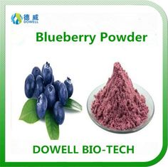 Blueberry Powder - Dowell Bio-Tech focus on producing 100% pure natural fruit and vegetable powders by the advanced manufacturering technology. All the raw materials comply with organic standards, contains variety of vitamins and acids; With pure flavor, good taste, super water solubility, can be widely used in pharmaceutical and health care products, health food, infant food, beverage, dairy products, sport drinks and other fields.